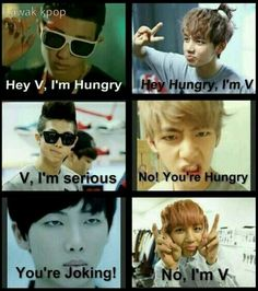 Typical V. This is hilarious!! LMAO.