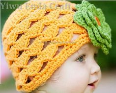 Crochet Halloween Pumpkin Beanie Hat