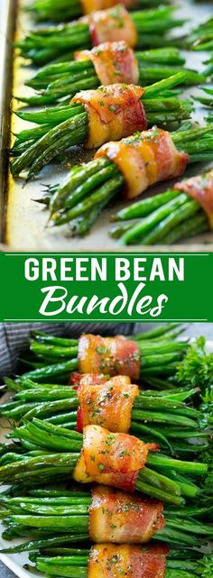 Green Bean Bundles Recipe- excellent holiday side dish. #Easterside