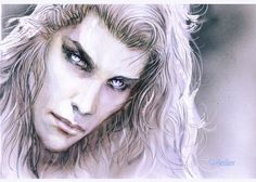 Inspiration for vampire eyes #vampdreams.   Picture by http://venlian.deviantart.com/