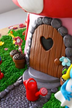Celebrate with Cake!: Smurf House Cake