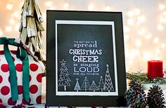 BOGO Chalkboard Holiday 8x10 Prints - Ships Fast! 52% off at Groopdealz