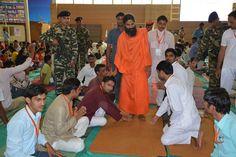 Youths taking blessings of #Yoga guru Swami Ramdev ji at yuva shivir #Patanjali yogpeeth #Haridwar.
