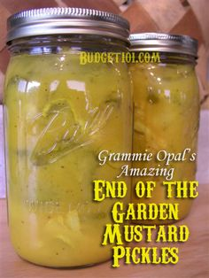 How to make Make Your Own Homemade Mustard Pickles aka Grandma's End of the Garden mustard pickles, a recipe passed down for generations! Homemade Mustard, Homemade Pickles, Pickles Recipe, Relish Recipes, Canning Recipes, Newfoundland Recipes, How To Make Pickles, Mustard Pickles, Canning Vegetables