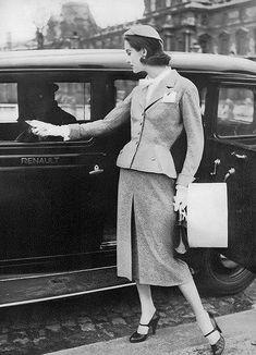 Anne St. Marie, photo by Karen Radkai, Vogue, March 1, 1955 | flickr skorver1