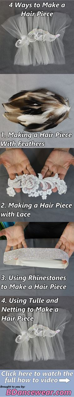 4 ways to make a hair piece for your dance costume.