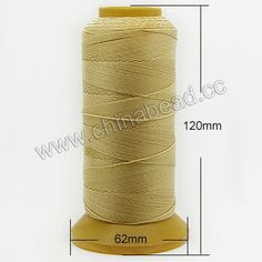 Cord Thread & Wire, 9 Folded Beading Thread, Color #28, 300 meters per spool, Sold by spools