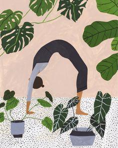 art design Trend Alert: Feminine Art Prints f - art Art Inspo, Kunst Inspo, Art And Illustration, Mountain Illustration, Pattern Illustration, Yoga Kunst, Illustration Botanique, The Other Art Fair, Yoga Art