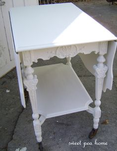 lovely tea cart in old white