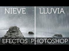Efecto de Nieve y lluvia en Photoshop - YouTube