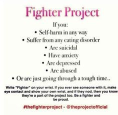 the fighter project self harm - Google Search