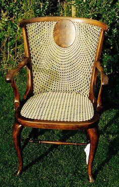 Sunrise back cane chair by allybeag, via Flickr