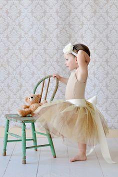 tutu skirt for girls, flower girl dress, Soft Tulle Champagne Gold Brown tutu PHOTOGRAPHY Bridal Weddings Flower Girls CUSTOM sewn tutus. $88.00, via Etsy.