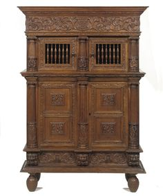 A DUTCH OAK CUPBOARD 'KEEFTKAST' -  LATE 19TH CENTURY