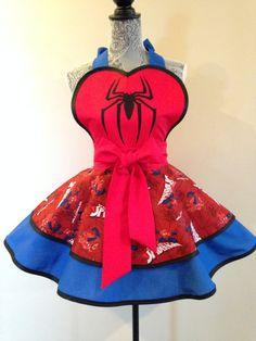 Spiderman  Spiderman apron  apiderman Costume  by AriaApparel