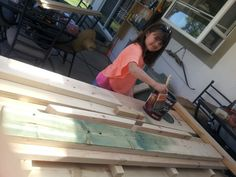 Working on our custom picnic table Picnic Tables, Diy Furniture Plans, How To Plan, Picnic Table