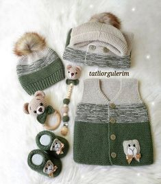 Multi Order 57 Baby Weste Cardigan Booties Strickmodelle - My CMS Baby Knitting Patterns, Baby Booties Knitting Pattern, Kids Patterns, Knitting Designs, Baby Boy Sweater, Knitted Baby Cardigan, Knitted Hats, Crochet Hats, Crochet For Boys
