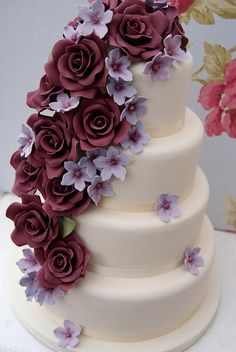Roses Cascade by Cakes by Occasion, via Flickr