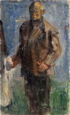 Zygmunt Schreter - Autoportret przy sztaludze