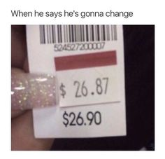 When he says he will change