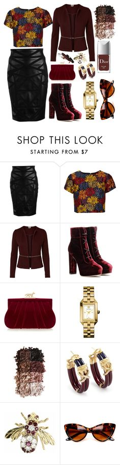 """""""Autumn Hues"""" by pulseofthematter ❤ liked on Polyvore featuring Versace, Alice + Olivia, Jimmy Choo, Wilbur & Gussie, Tory Burch, LORAC, Nouvelle Bague, Vintage and Marc Jacobs"""