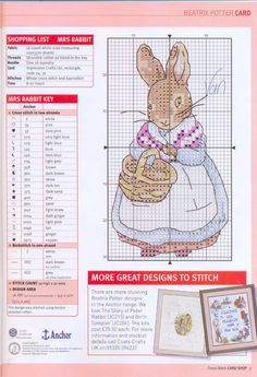 peter rabbit cross stitch - Recherche Google