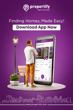 Whether you're looking for an apartment or a spacious villa, find gorgeous properties with unbeatable prices on the Propertify app! Real Estate Advertising, Real Estate Ads, Advertising Design, Creative Advertising, Poster Background Design, Creative Background, Creative Poster Design, Ads Creative, Social Media Banner
