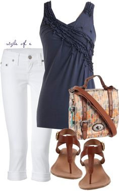 """Pintucked Tank"" by styleofe on Polyvore"
