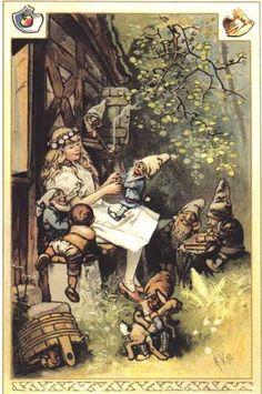 Grimm, Jacob and Wilhelm. Kinder und Hausmarchen. Hermann Vogel, illustrator. Munich: Braun and Schneider, 1894.