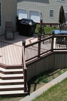 29 Beautiful DIY Raised Deck Ideas you should try for your outdoor space Koi Pond Design, Path Design, Design Ideas, Wood Deck Designs, Pergola Designs, Easy Deck, Raised Deck, Deck Lighting, Lighting Ideas