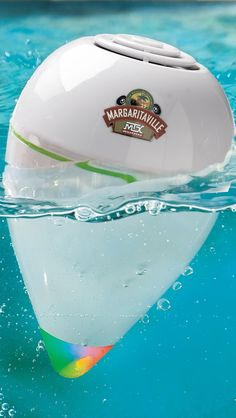 Turn it on, toss it in the pool and let the party begin. The Margaritaville Floating Pool Speaker was designed to spend endless afternoons playing your favorite songs, in or out of the water, for up to 8 straight hours. | Margaritaville by Frontgate