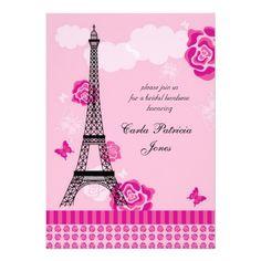 aba4e4bc7f2c 18 Best Paris Bridal Shower Invitations images