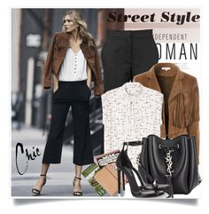 """""""Street Style"""" by jan31 ❤ liked on Polyvore featuring Won Hundred, Glamorous, Monki, Yves Saint Laurent and Olympia Le-Tan"""