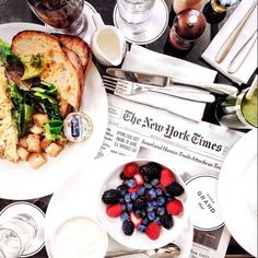 new york times and breakfast