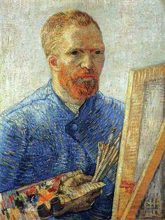 Vincent van Gogh, Self Portrait As An Artist, 1888