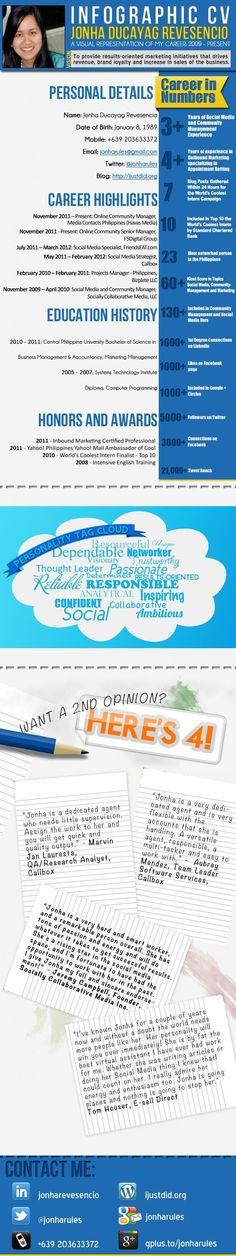 Dustin Marsonu0027s Infographic Resume Resume Pinterest - mobile resume