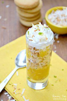 Lemon Shortbread Parfaits. #citrus #desserts
