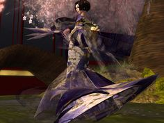 "By ""yocco,"" showing one of the many beautiful #kimono created in #SecondLife"