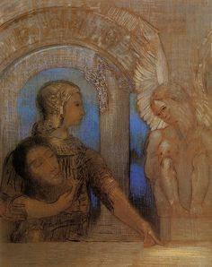 The Mystical Knight Oedipus And Sphinx Artist Odilon Redon Completion Date