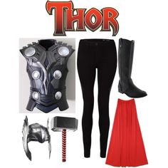 (Not slutty) Thor Women's Costume by i-see-stars-2002secondaccount on Polyvore featuring 2nd Day and Old Navy