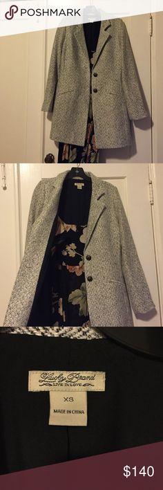 Lucky Brand herringbone coat lucky brand herringbone coat. Classic piece that goes with everything! Lucky Brand Jackets & Coats
