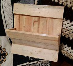 """Pallet wood mail holder - 15"""" wide x 16"""" tall x 6"""" deep"""