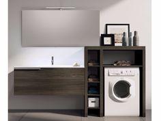 Modulares Waschküche Schrank Mit Spiegel MAKE WASH 03 Kollektion Make By  LASA IDEA