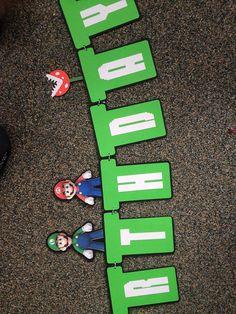 Mario Bros Birthday Banner by VTcraftypaper on Etsy, $22.00