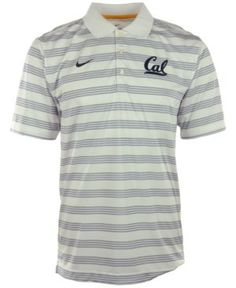 Nike Men's California Golden Bears Dri-fit Preseason Polo Shirt - White XXL