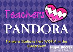 Pandora in the classroom. i would love to do this every once in a while!