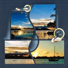 Gives me ideas of what to do with my Broome sunset and camel ride photos Scrapbook Examples, Scrapbook Quotes, Scrapbook Templates, Travel Scrapbook, Scrapbook Cards, Album Photo Scrapbooking, Scrapbook Page Layouts, Digital Scrapbooking, Creation Album Photo