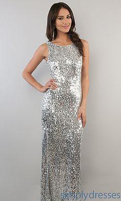 Long Silver Sequin Dress at SimplyDresses.com  @Lauren Ashley LaVine