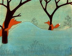 Kristiana Parn hiding foxes.  I love the fox series...makes me wish I'd done Sam's room in foxes!