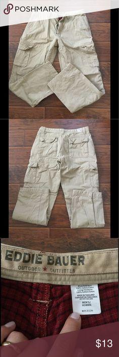Eddie Bauer cargo pants, lined Eddie Bauer cargo pants, lined for extra warmth. Eddie Bauer Pants Cargo